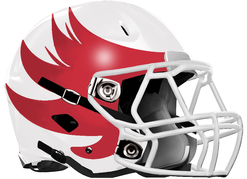 Milton football helmet