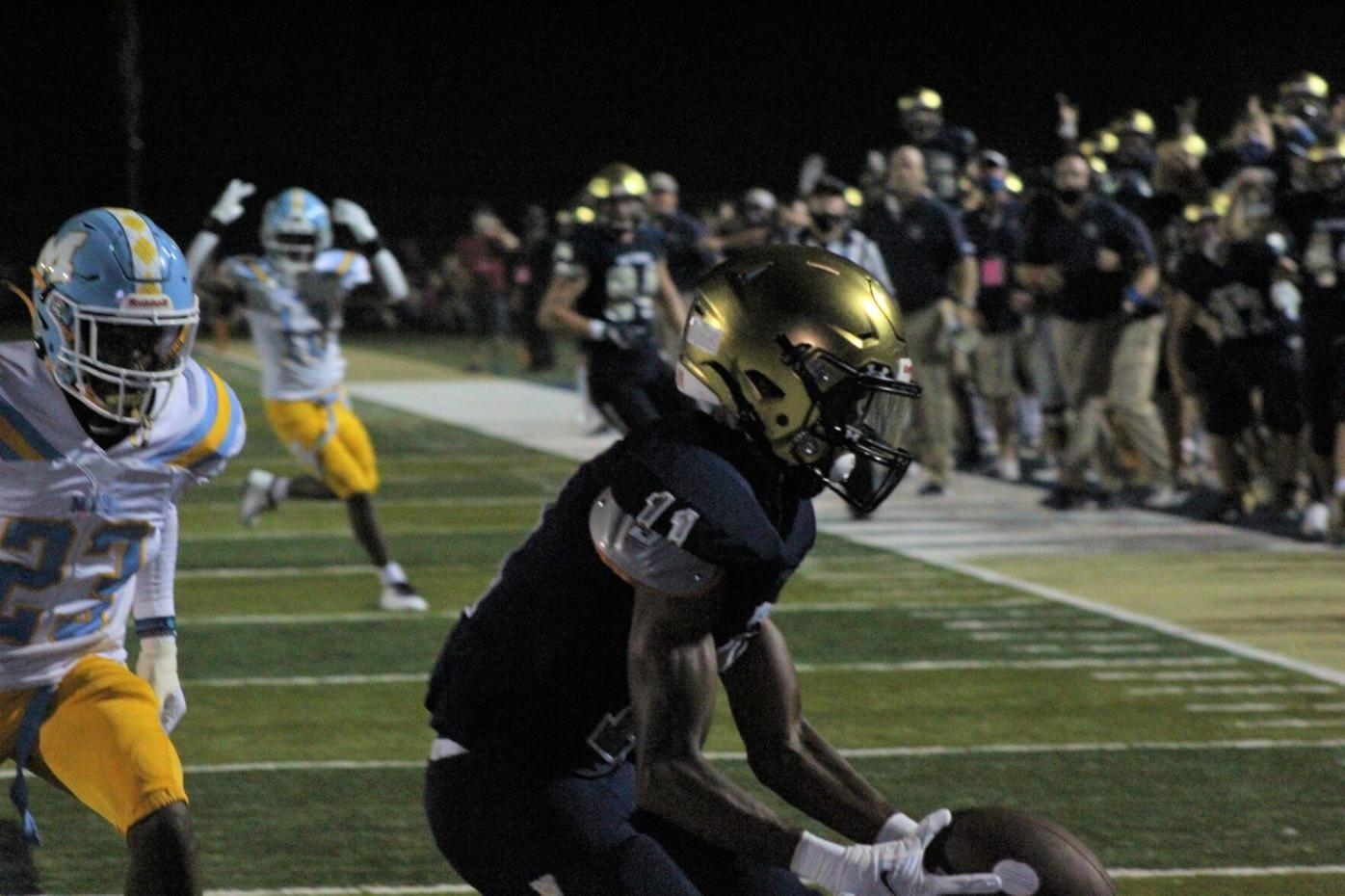 West Forsyth Football rings in season of uncertainty with dominant win over Mays