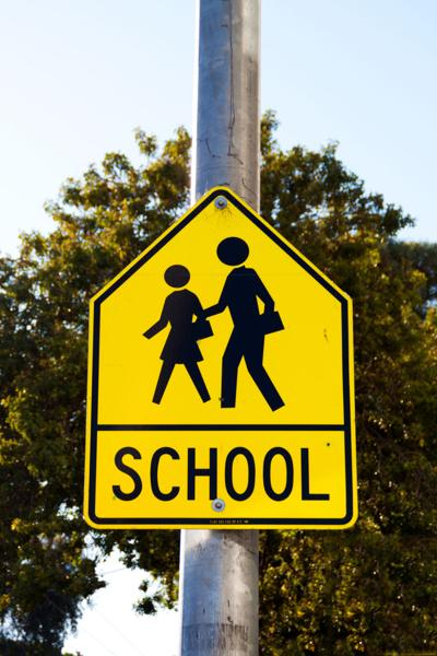 School Zone Stock