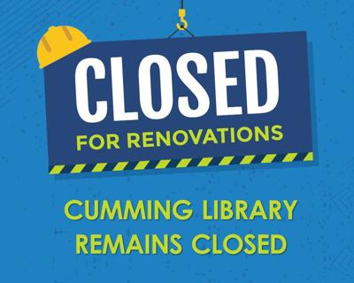 Cumming Library Reopening December 6, 2019
