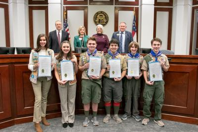 Forsyth Scouts Honored