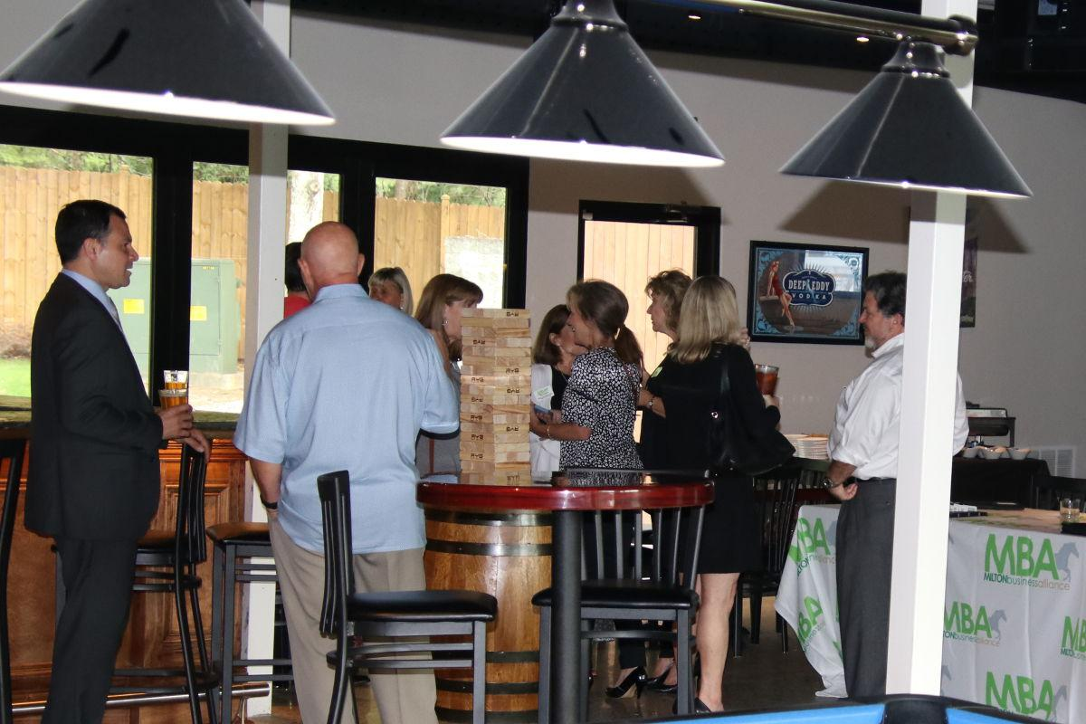 Milton Business Alliance networking at Mazzy's