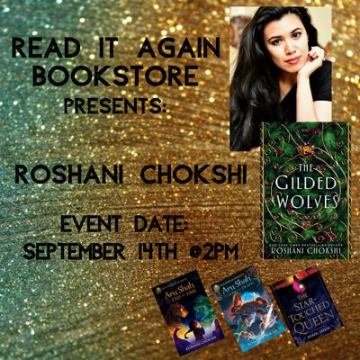 Roshani Chokshi Author Event at Read It Again Bookstore!