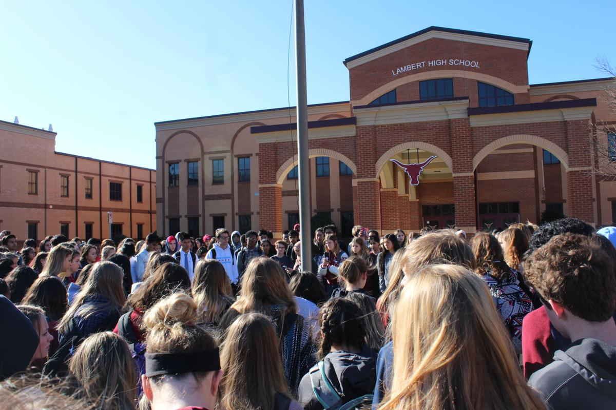 Lambert students participate in national walkout