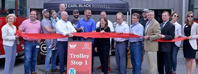 Free trolley service debuts in Roswell