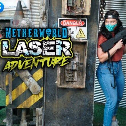 Play Laser Tag at NETHERWORLD Haunted House