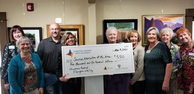 FCAA Presents Check to Cumming Arts Center (March 2020)