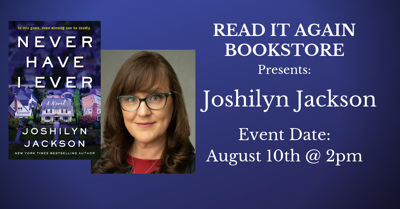 Joshilyn Jackson Author Event at Read It Again Bookstore