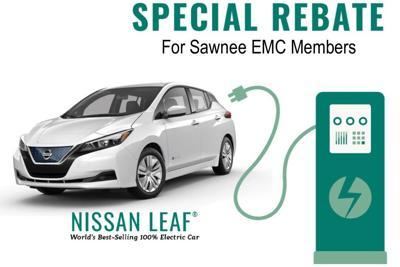 Special Electric Vehicle Rebate for Sawnee EMC Members