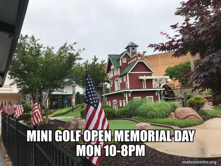 Mini Golf Open Memorial Day at Aurora Cineplex