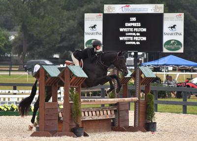 Wyette Felton and Empress at the Zone 4 Championships