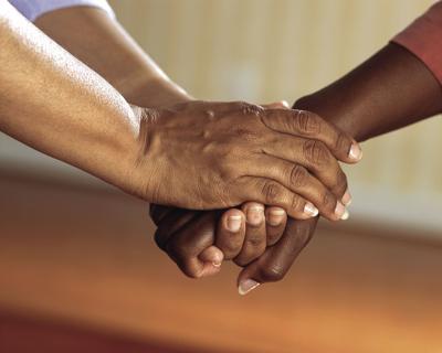 Stock Handshake Caregiver