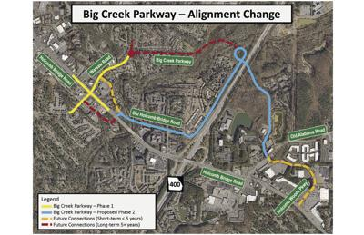 Big creek alignment change