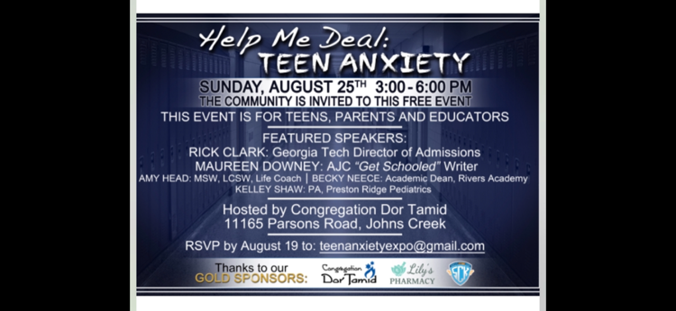 dor tamid teen anxiety event