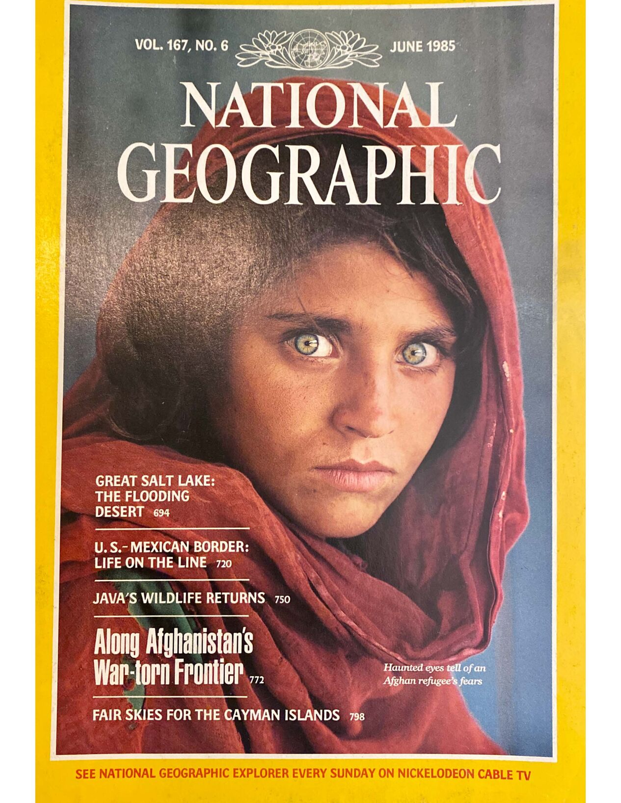 National Geographic cover - eyes