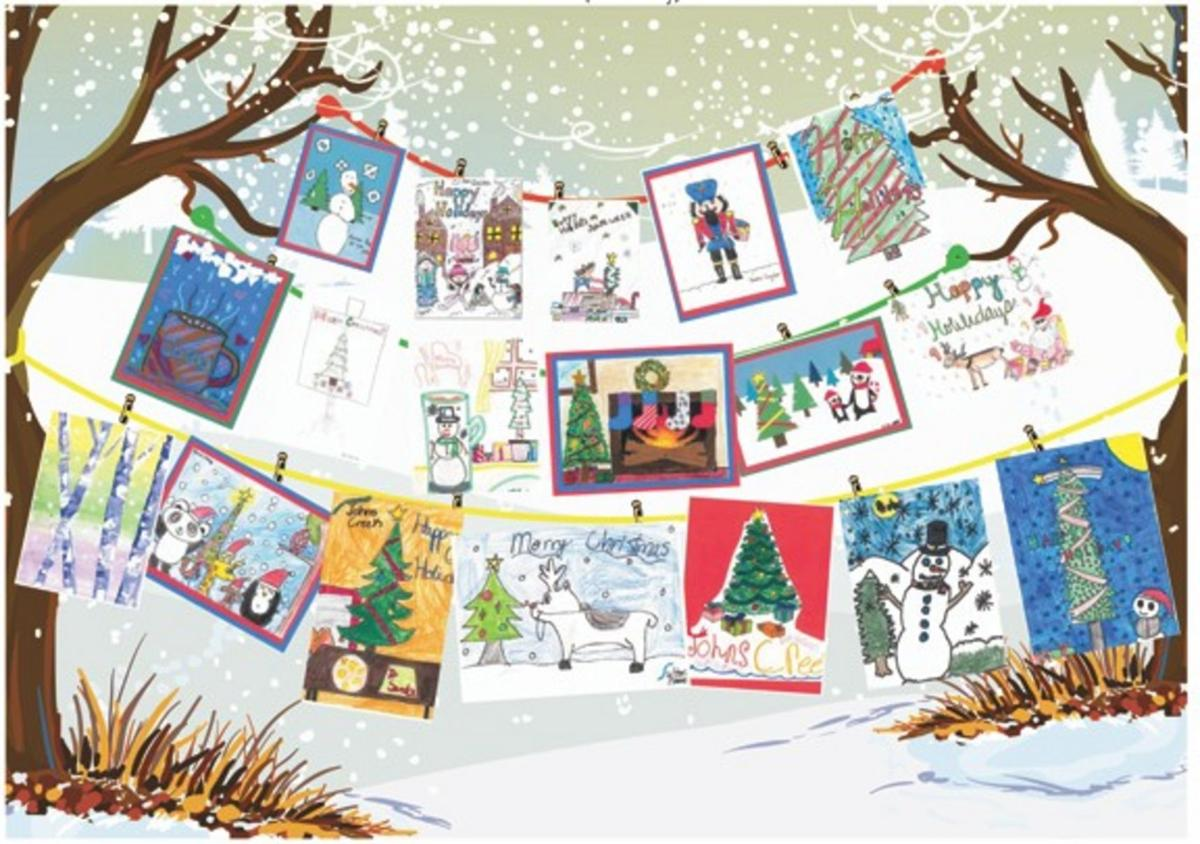 johns creek schools design holiday cards for soldiers sports
