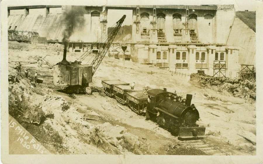 15-mile-falls-1930-train in spillway area.jpg