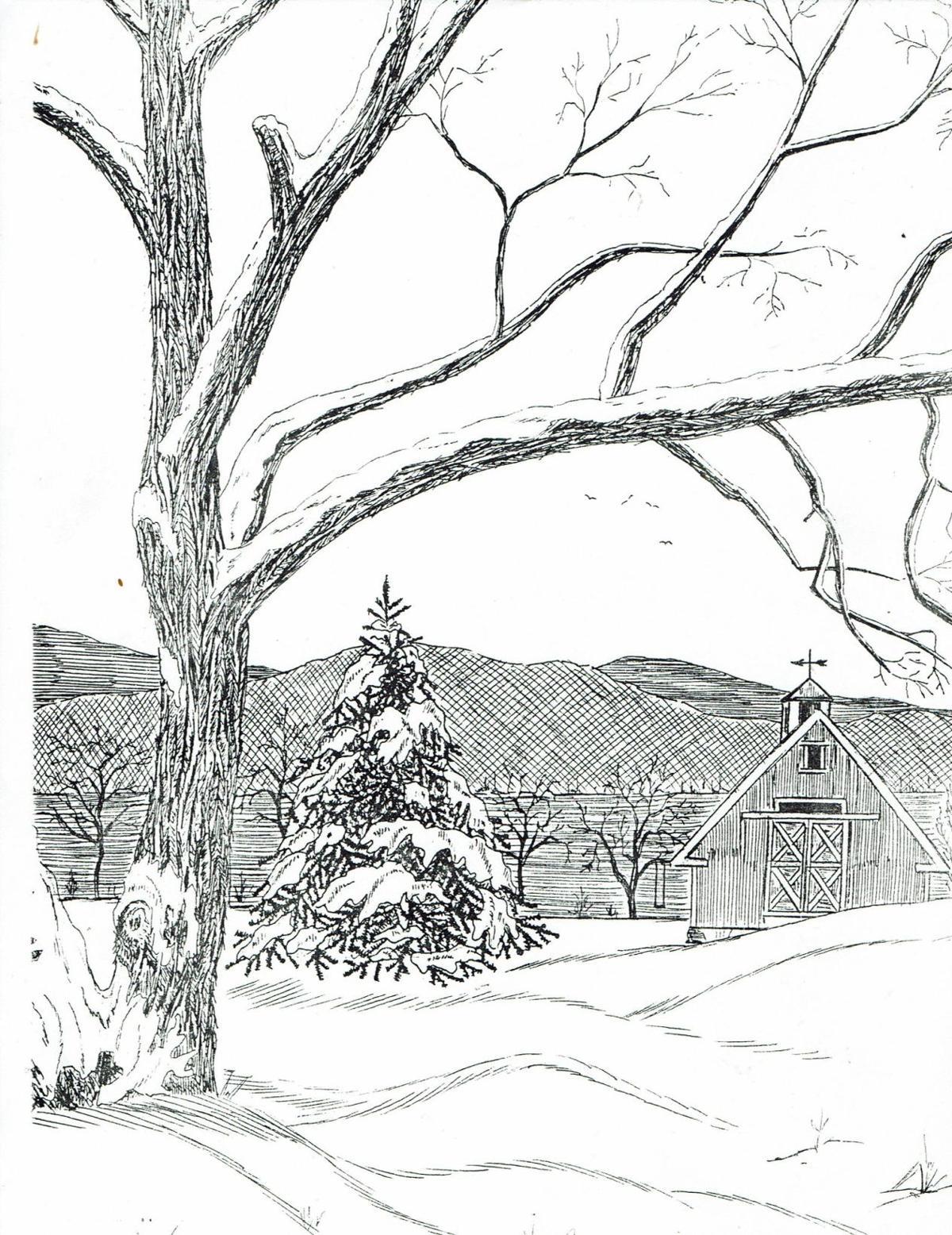 skip sedore - winter scene