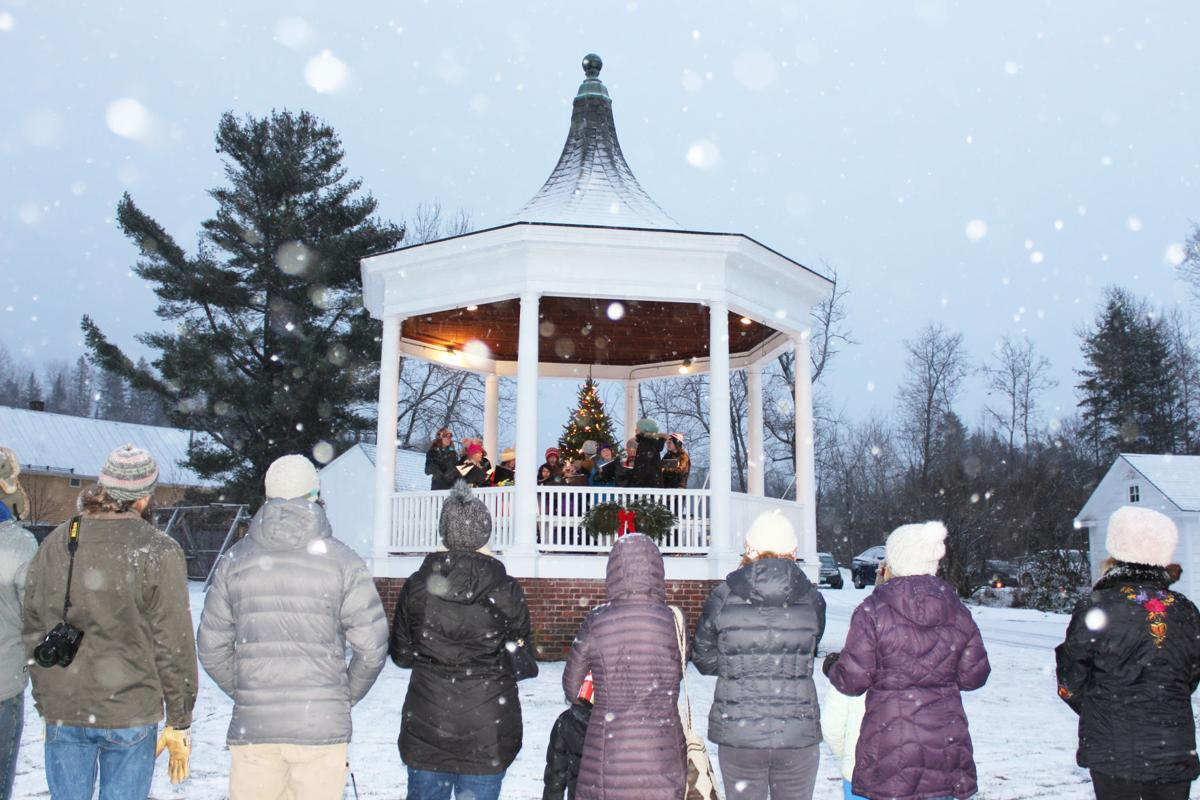 Guests at the Burke Area Chamber of Commerce Holiday Party and Tree Lighting were treated to an outdoor conecert by the children of the Newark Balkan Chorus.jpg