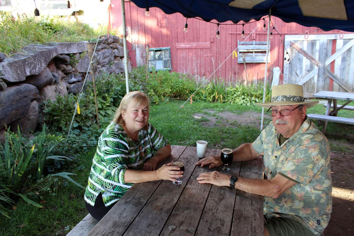 Beryl & Ed Klahre appreciate the unique & comfortable atmosphere at Red Barn,  it reminds them of a  get together with friends.jpg