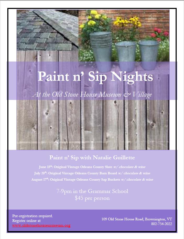 Paint n' Sip Nights