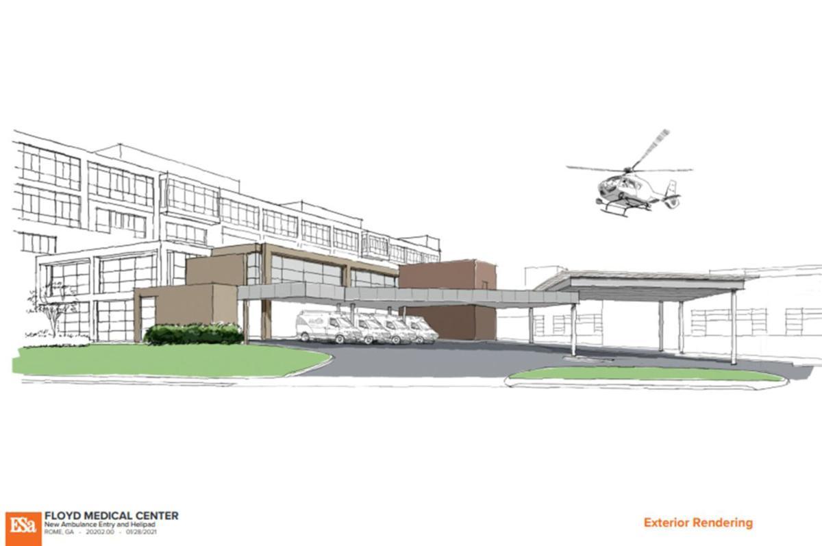 Floyd Medical Center helipad