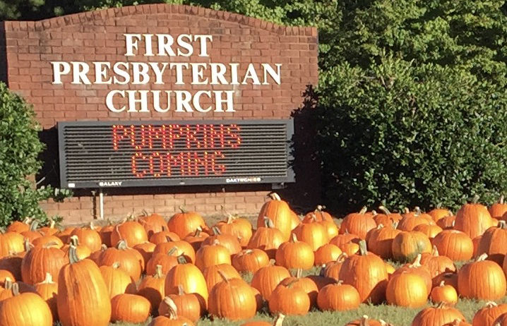 Calhoun First Presbyterian to hold annual Pumpkin Sale throughout October