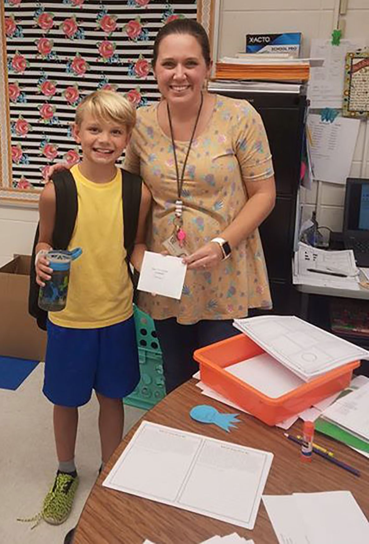 Ringgold Telephone Co. Back to School prize Mrs. Owens West Side Elementary