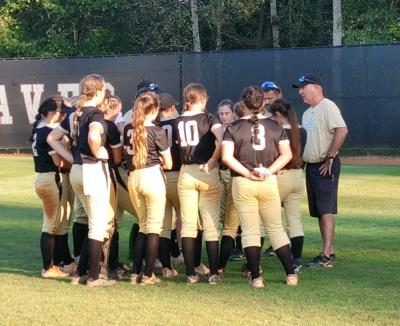 Pepperell huddle after Heard County loss