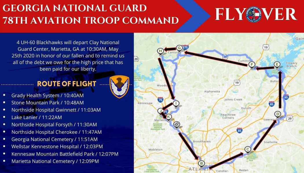 Georgia National Guard N GA flyover