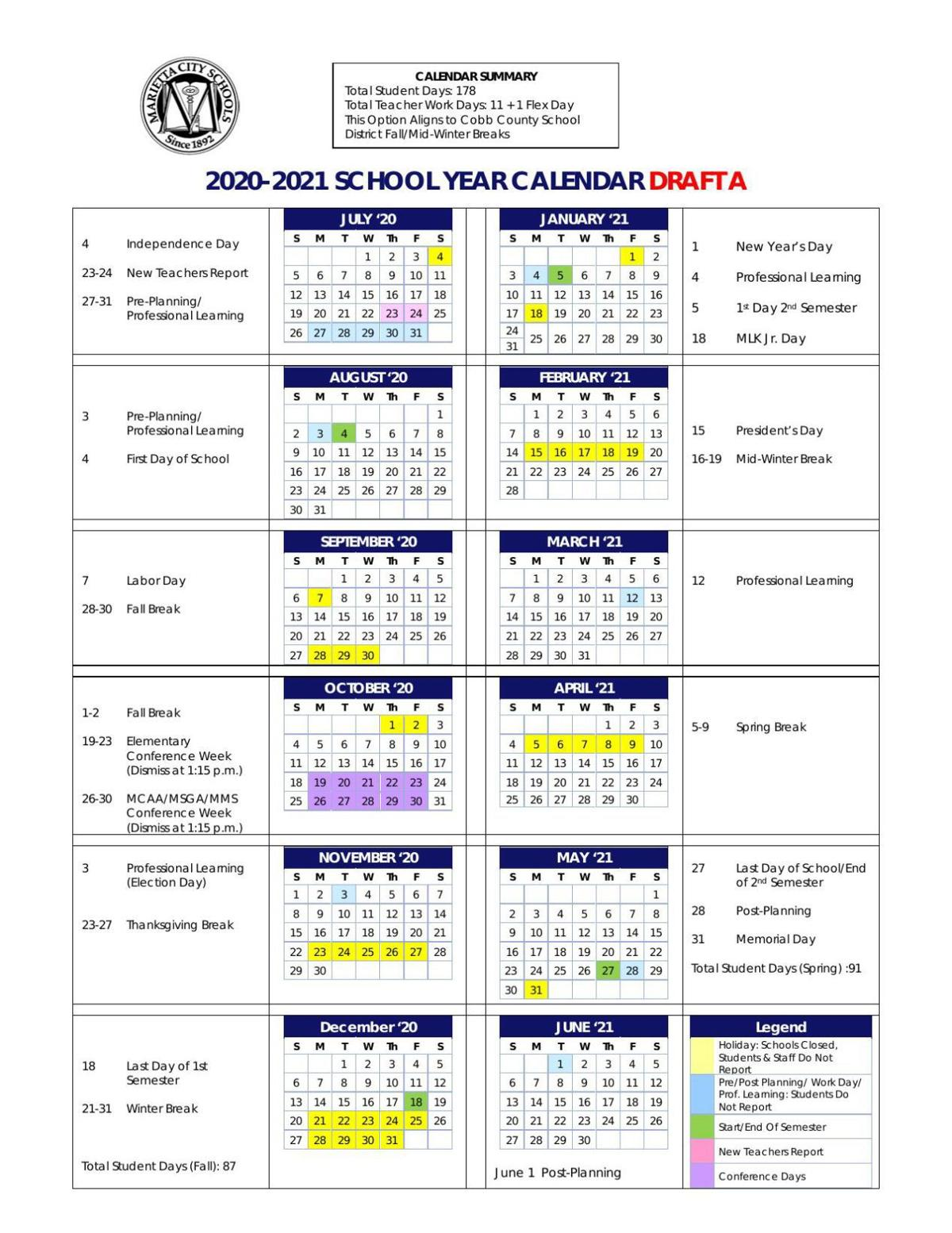 20 21 Calendar A.pdf | Region | northwestgeorgianews.com