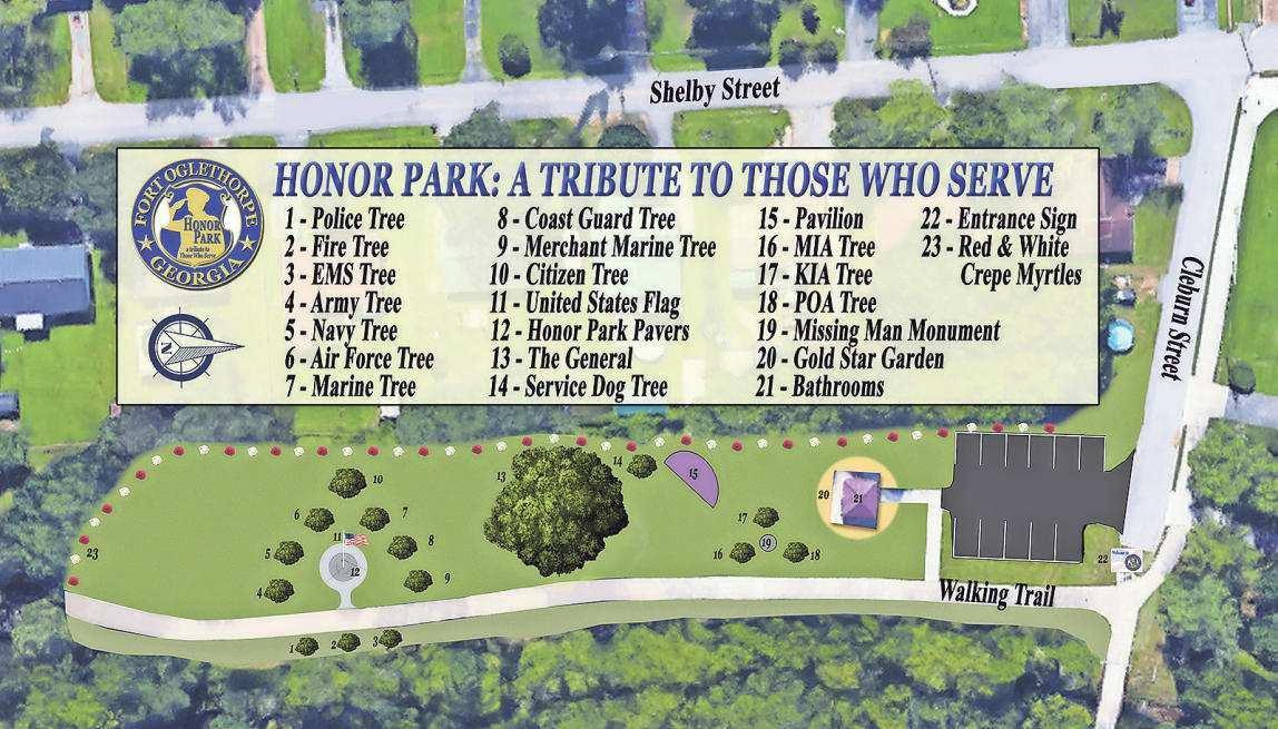 Fort Oglethorpe's Honor Park: From swamp to weeping trees