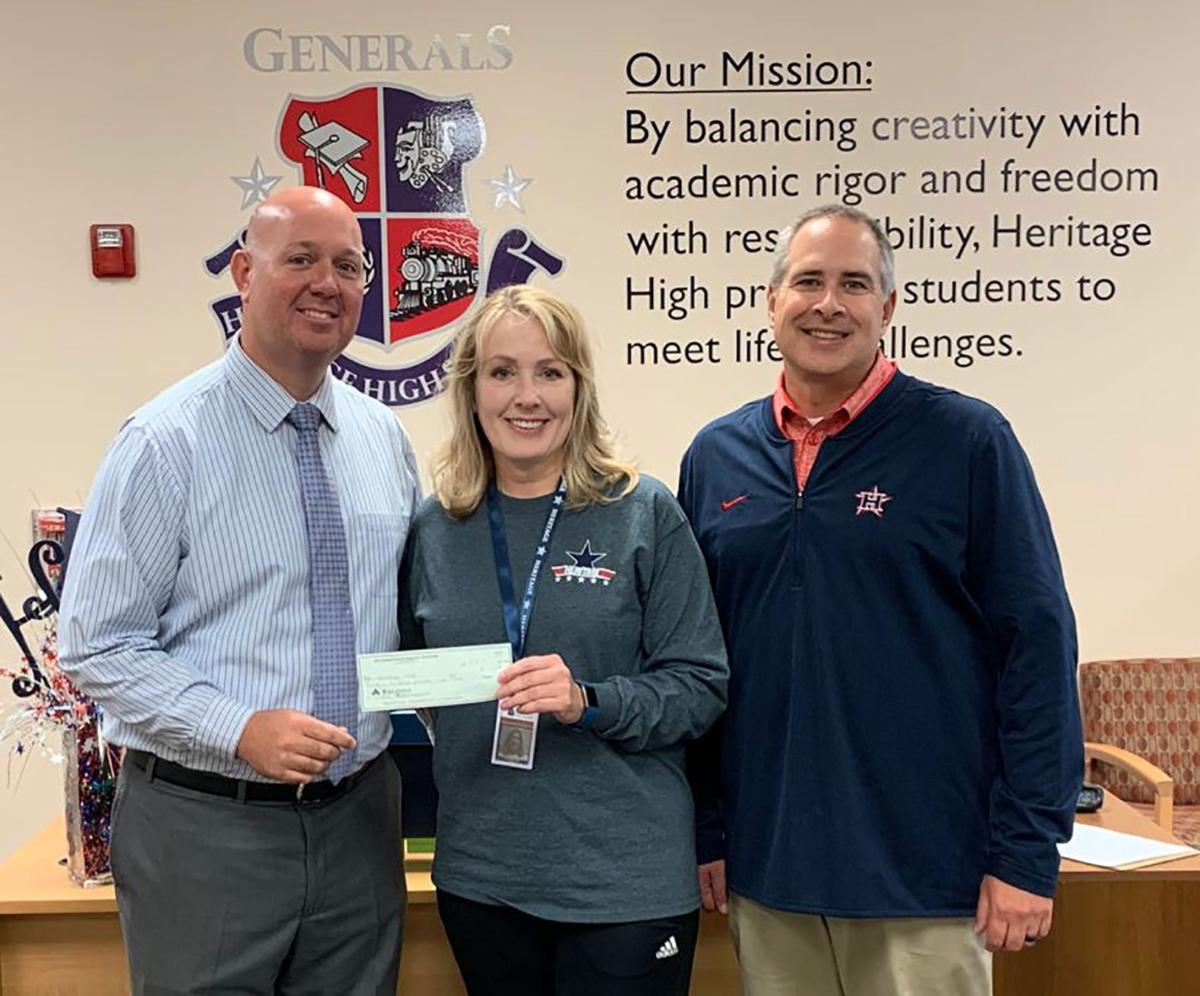Heritage High NHC Healthcare Donation
