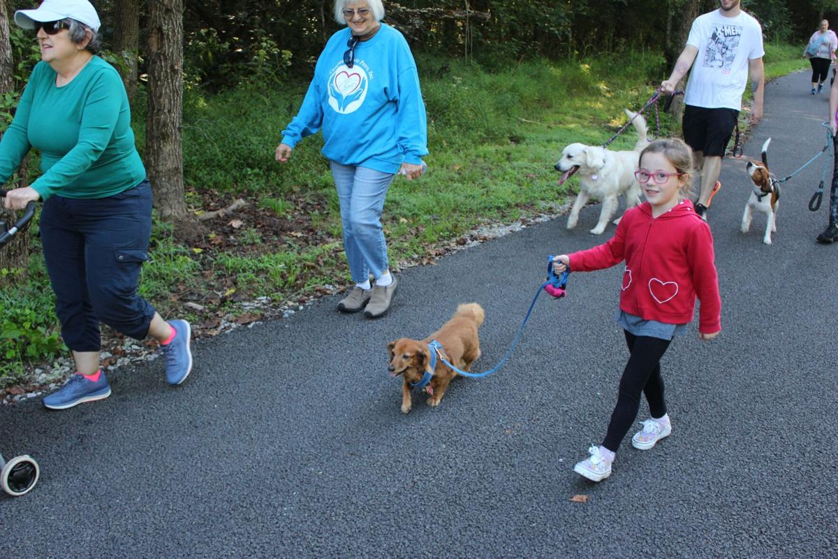 """Compassionate Paws gather for """"Pet Walk"""" Saturday morning at Mount Berry Trail"""