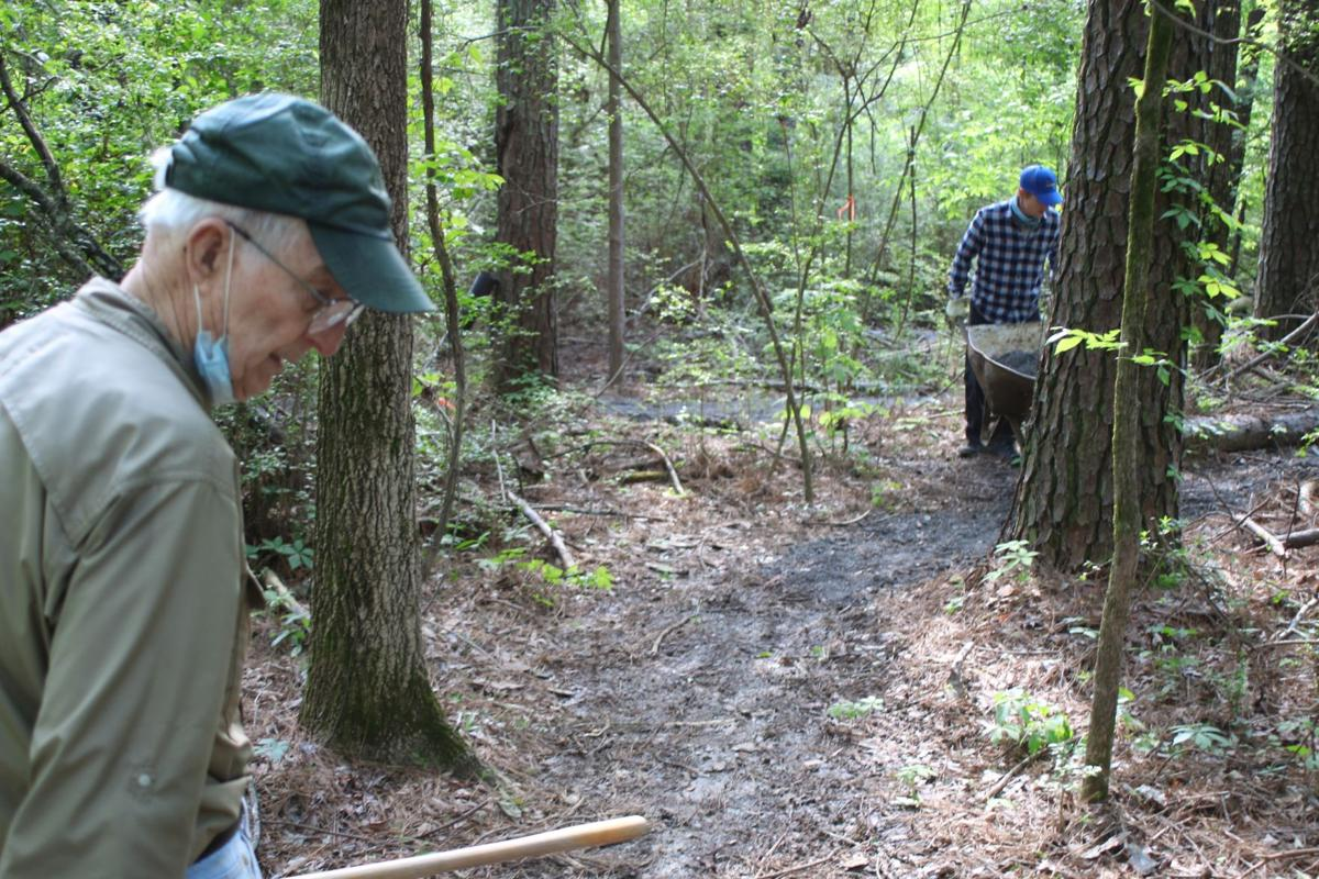 Cleanup at the GE trails at Garrard Park