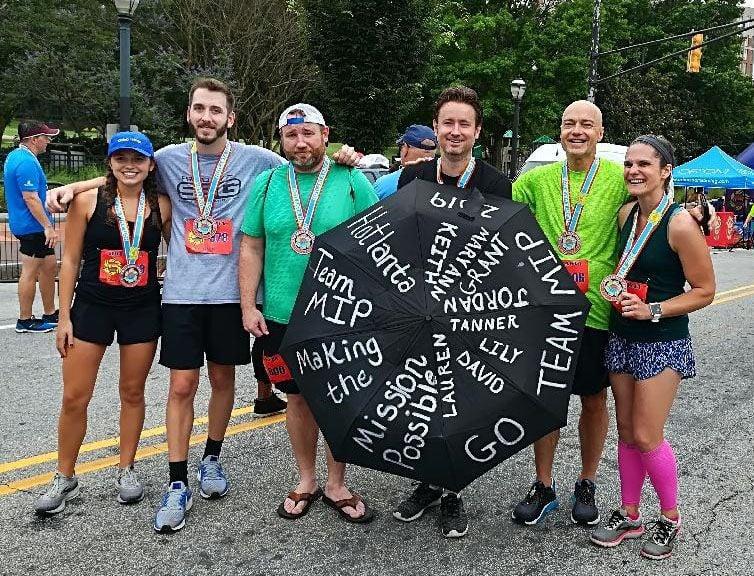 Mission Is Possible team fundraises at Hotlanta half-marathon