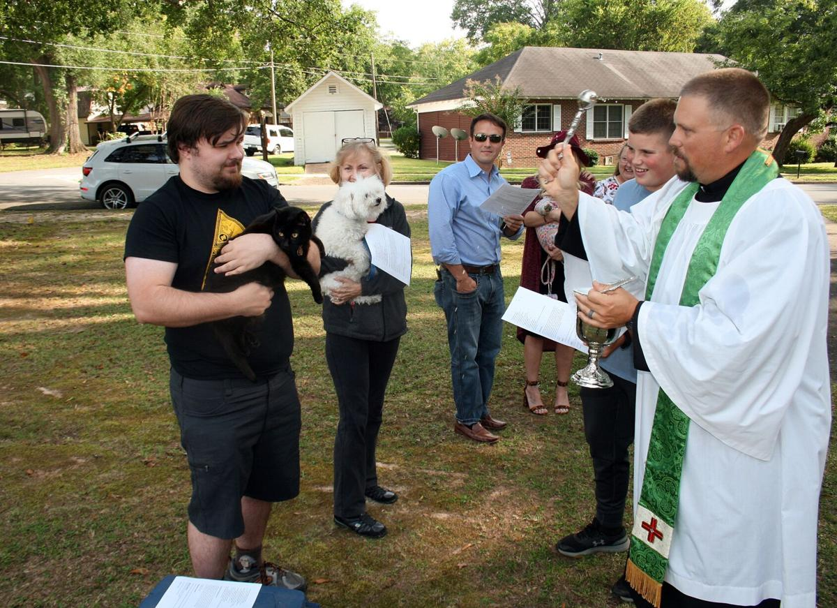 Blessing of the Pets held at St. Andrew's Anglican Church on Sunday