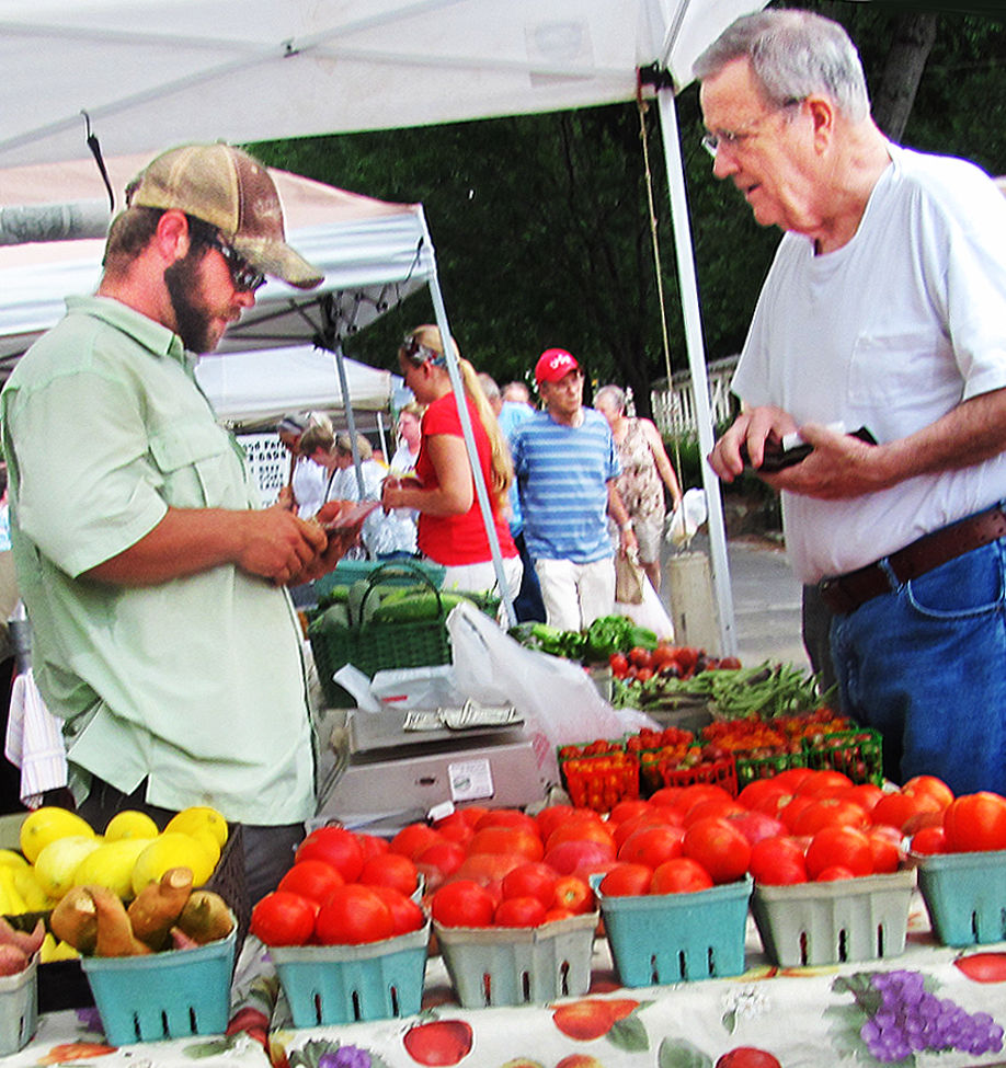 Tomatoes get star status at local farmers market for Polk fish wrap