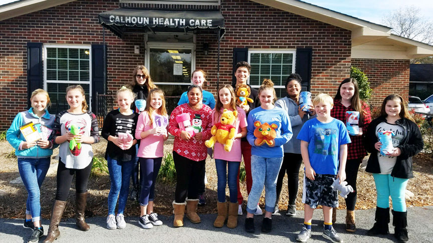 Gordon County 4-H'ers visit Calhoun Health Care