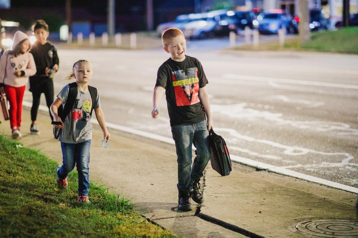 Elm Street hosts walk to school event