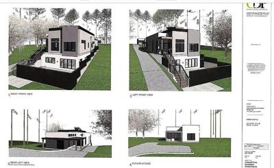 Plan for duplex in North Rome