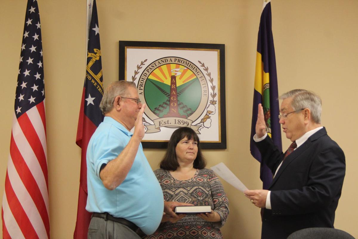 Aragon Mayor Garry Baldwin, former City Clerk Lori Dunn