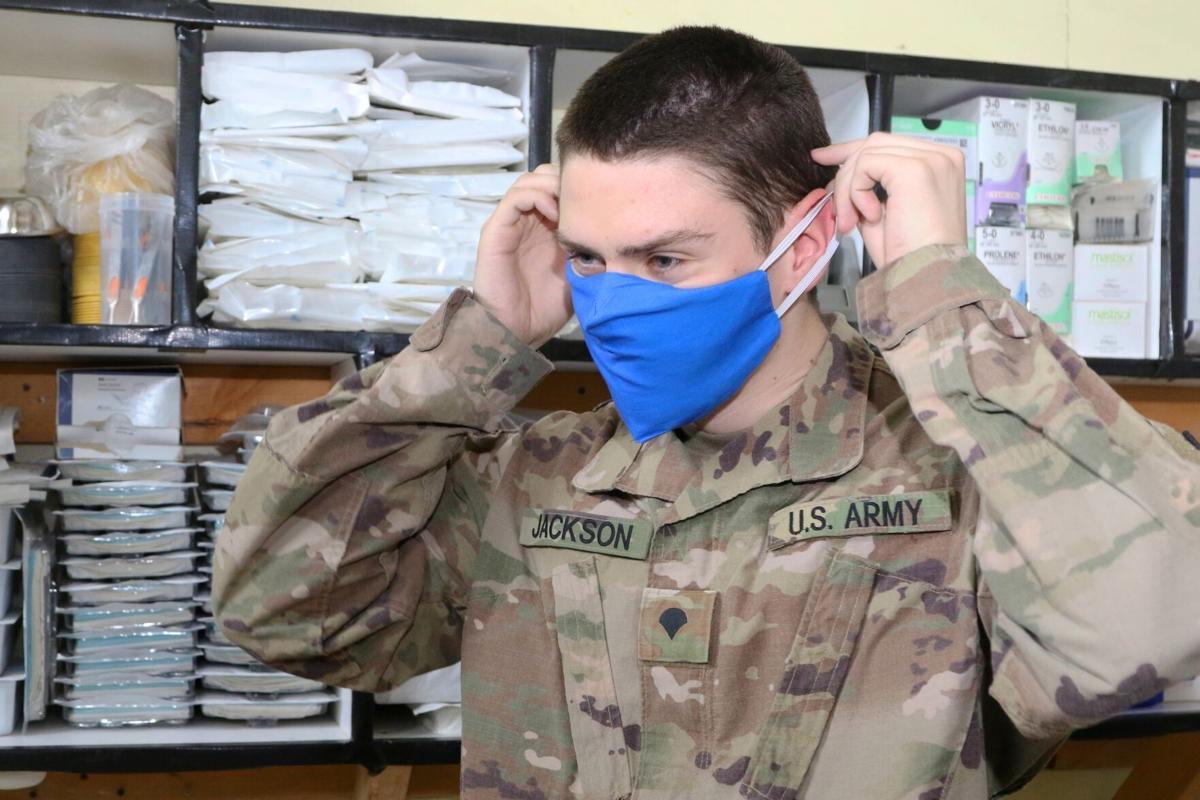 Homemade masks help protect troops deployed in Iraq
