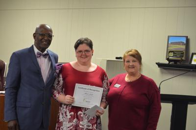 School board honors Smith as December M.E.R.I.T. winner