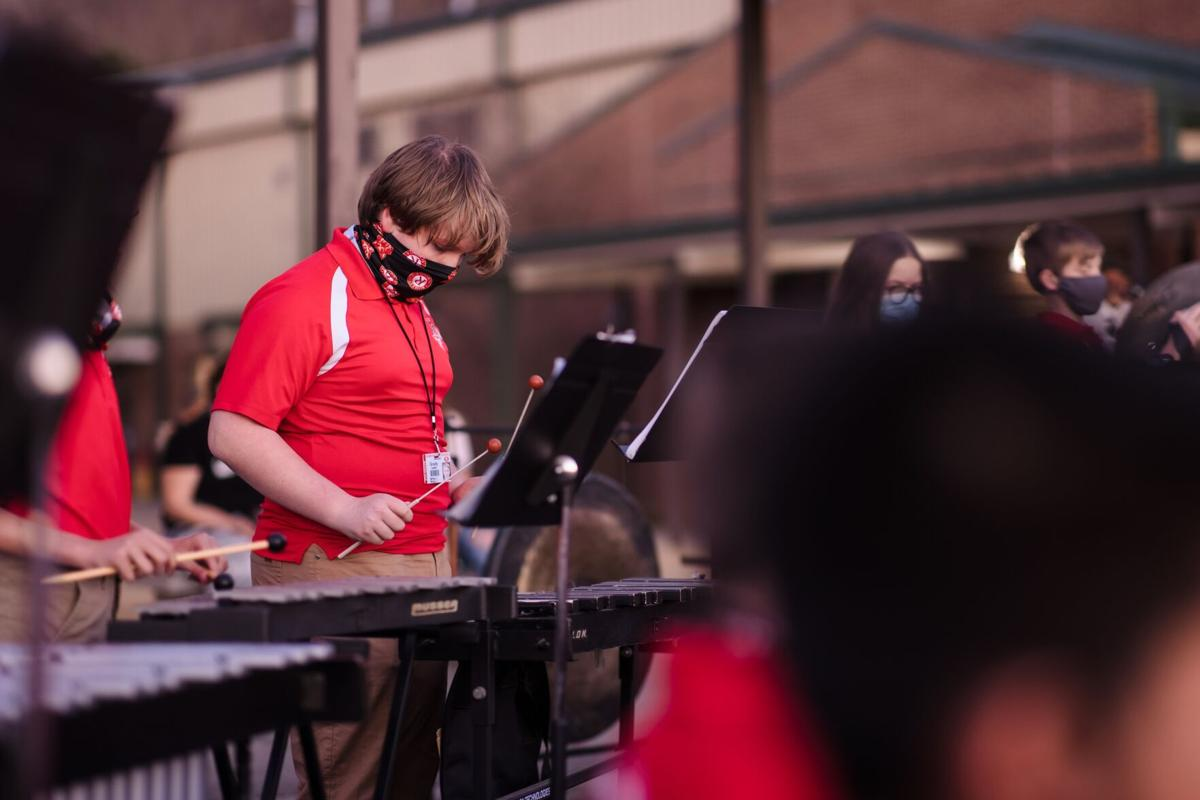 Rome Middle School takes its winter concert outside