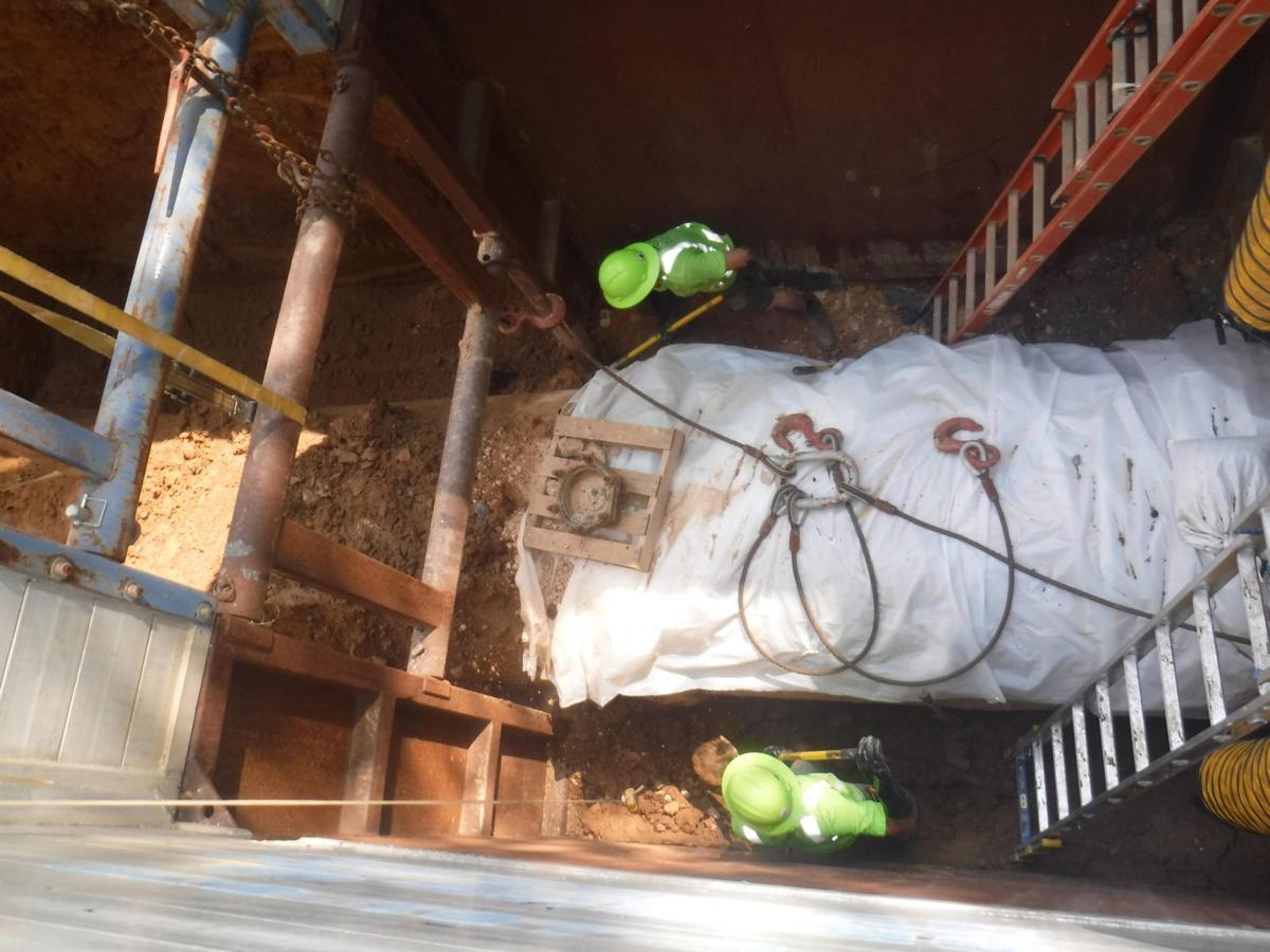 Sewer main repair