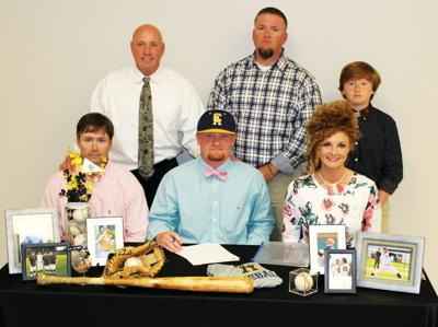 Josh Decker signs baseball scholarship with Central Alabama Community College