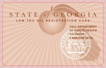 Georgia low THC oil registration card