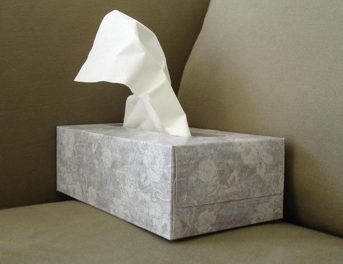 Tissue box flu cold season generic