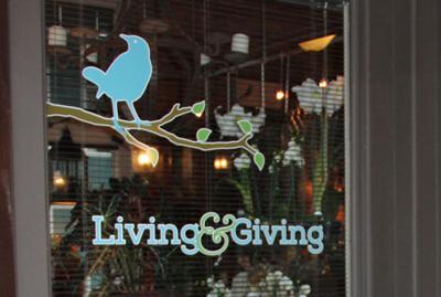 Living & Giving sign logo